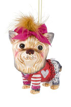 Art:Nr:10009 Hänger Yorkshire Terrier, pinke Schleife