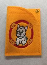 Art:Nr:0082 Hülle für mehrere Impfpässe ,West Highland White Terrier,B:13 cm L:18 cm