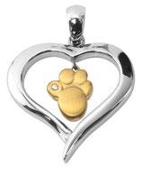 Art:Nr: 739 Magnet Anhänger Herz mit Pfote