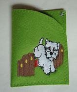 Art:Nr:0077 Hülle für mehrere Impfpässe ,West Highland White Terrier,B:13 cm L:18 cm