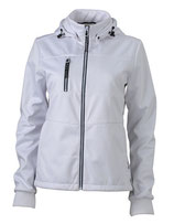 Ladies´ Maritime Softshell-Jacket White White Navy