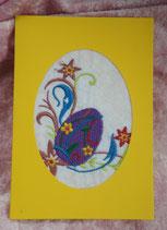 Art:Nr:006 Ostergrußkarte mit Stickmotiv Klappkarte mit Umschlag
