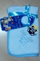"Art:Nr:12-457 T Als Set mit niedlichem Türhänger! bestickt, Motiv ""Panda"""