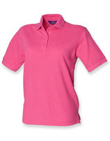 Ladies Piqué Polo Fuchsia