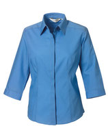 Popeline-Bluse mit 3/4-Arm Corporate Blue