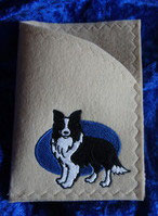 "Art:Nr:0011  Ahnen-/ Impfpasshülle, Motiv ""Border Collie"""