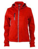 Ladies´ Maritime Softshell-Jacket Red Navy White