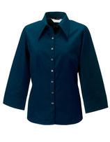 Körperbetonte Bluse mit 3/4-Ärmeln Navy