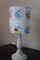 """Art:Nr:1348 Kleine Stehlampe, Motiv """"Pudel"""""""