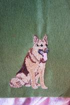 Art:Nr:0073 Impfpasshülle Deutscher Schäferhund B:12 cm H:18 cm