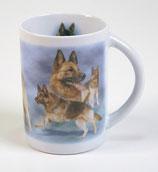 """Art:Nr:57894 Henkelbecher """" Schäferhund"""""""