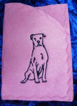 "Art:Nr:008 Ahnen-/ Impfpasshülle, Motiv ""Dogo Argentino"""