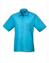 Poplin Short Sleeve Shirt (Herrenhemd/Kurzarm) Turquoise