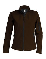 Ladies Softshell Jacket Dark Chocolate