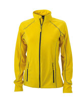 Ladies´ Structure Fleece Jacket Yellow Carbon