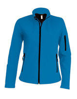 Ladies Softshell Jacket Aqua Blue
