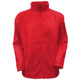 "Outdoor Full Zip Fleece Jacke "" Red """