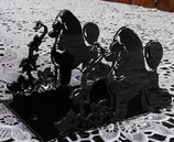 Art:Nr:32147 Serviettenhalter Pudel schwarz