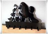 """Art:Nr: IX-162 - Hübscher Wandaufhänger """"Pudel"""""""
