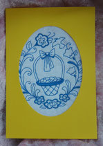 Art:Nr:003 Klappkarte mit österlichem Stickmotiv inkl. Umschlag