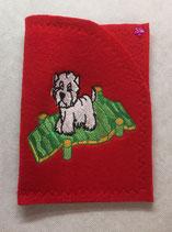 Art:Nr:0081 Hülle für mehrere Impfpässe ,West Highland White Terrier,B:13 cm L:18 cm