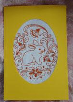 Art:Nr:002 Ostergrußkarte mit Stickmotiv Klappkarte mit Umschlag