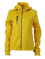 Ladies´ Maritime Softshell-Jacket Sun Yellow Navy White