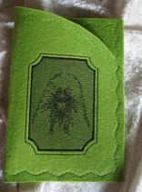 Art:Nr:0039 Impfpasshülle Pudelkopf B:12 cm H:17 cm