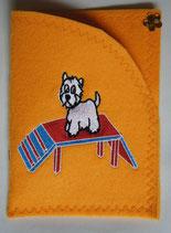 Art:Nr:0078 Hülle für mehrere Impfpässe ,West Highland White Terrier,B:13 cm L:18 cm