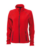 Ladies´ Structure Fleece Jacket Red Carbon