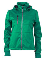 Ladies´ Maritime Softshell-Jacket Irish Green Navy White