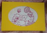 Art:Nr:004 Osterkarte mit Stickmotiv Klappkarte mit Umschlag