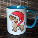 """Becher """"Weihnachtsdackel   """""""