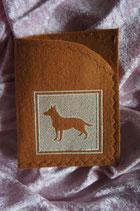 Art:Nr:0074 Impfpasshülle Deutscher Schäferhund B:12 cm H:18 cm