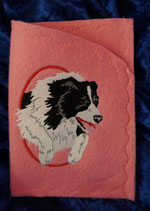 "Art:Nr:0010  Ahnen-/ Impfpasshülle, Motiv ""Border Collie"""