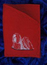 """Art:Nr:0029 Einsteckhülle für Impf-/ Ahnenpass, Motiv """"Lhasa Apso"""""""