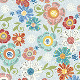 6802-08 HOME GROWN FLORAL GRIS