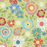 6802-40 HOME GROWN FLORAL VERDE