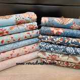 FLORAL JACOBEAN LOTE 12 FAT QUARTERS