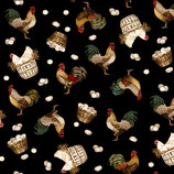 2355-99 COUNT YOUR BLESINGS GALLINAS FONDO NEGRO