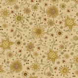2145-44 Itty Bitty Flores estrelladas amarillo fondo crema