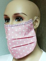 Flexibele Kosmetikmaske, Mund- Nasen- Schutz, Staubschutz aus Baumwolle mit Nasenbügel