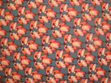 Hin 07 blauw/ oranje bloem
