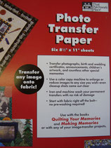 PHOTO TRANSFER PAPER