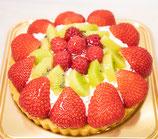 アレルギー対応ケーキ 季節のフルーツタルト(苺)16cm(12月~4月まで)