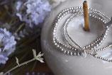 Armband Perle grau 2mm  /   2 x 925 Silberkugel-Armbändeli facettiert 2mm und 1 x 3mm