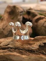 Grosslochperie Krone 925 Silber