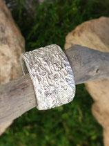 Ring HANDGEFERTIGT 999 Reinsilber  mit Zirkoniasteinchen Breite 1.8cm    Nr.2