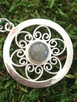 Anhänger 925 Silber mit Edelstein Labradorit 3,0cmx3,0cm