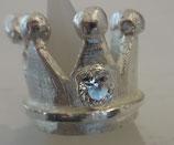 Krone mit Zirkoniastein HANDGEFERTIGT 999 Reinsilber Nr .1